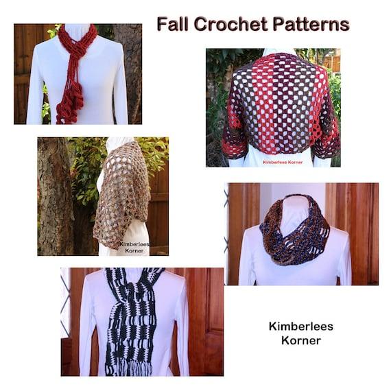 Crochet Patterns Crochet Cowl Scarf And Shrug Pattern Etsy