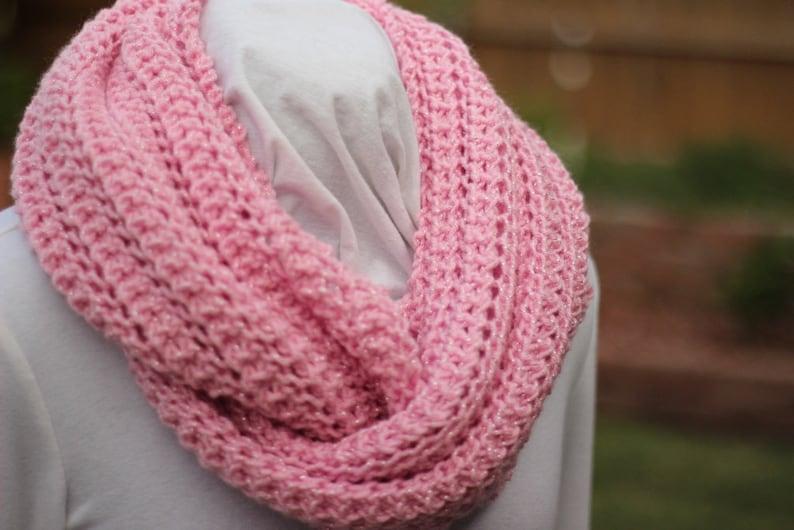 Knit Cowl Patterns Lace Knit Scarf Pattern Easy To Knit Etsy