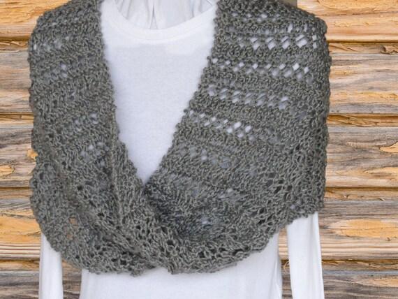 Mobius Knit Wrap Pattern Knit Cowl Patterns Lace Stripe Etsy