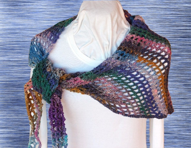 Crochet Patterns For Scarves Easy To Crochet Wrap Pattern Etsy
