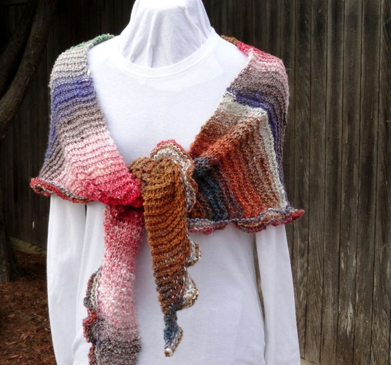 Easy To Knit Shawl Pattern Free Knitting Pattern Patterns Etsy