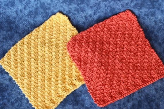 Knit Dishcloth Pattern Knitted Dishcloth Patterns Knitting Etsy