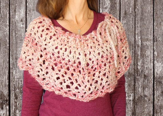 Knit Poncho Pattern Knitting Pattern For Cowl Knit Cowl Etsy