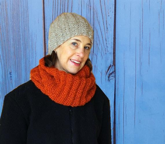 Knit Hat Pattern Hat Patterns Knit In Round Seeded Rib Knit Etsy