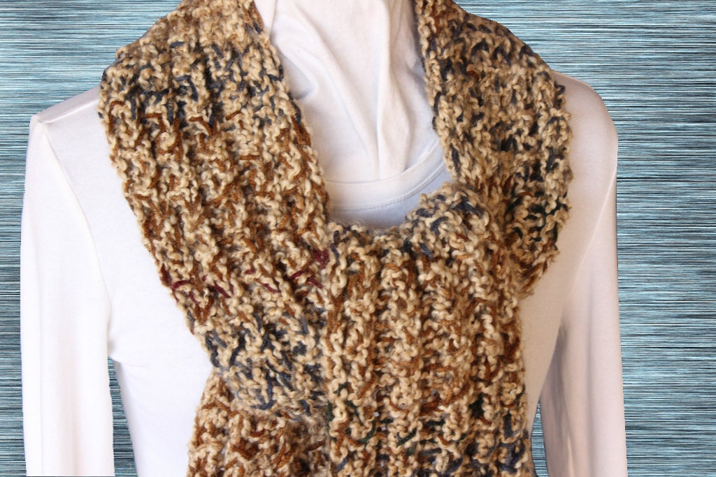 Chunky Knit Scarf Pattern Knitted Scarf Patterns Free Knitting
