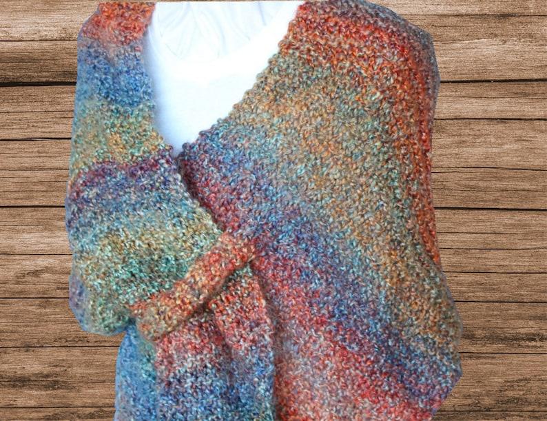 Knitting Pattern for Shawl Easy to Knit Prayer Shawl ...