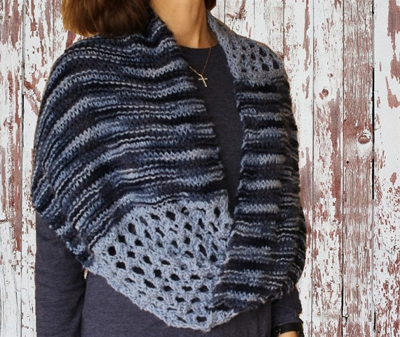 Knit Cowl Pattern Knit Pattern For Mobius Wrap Knitting Etsy
