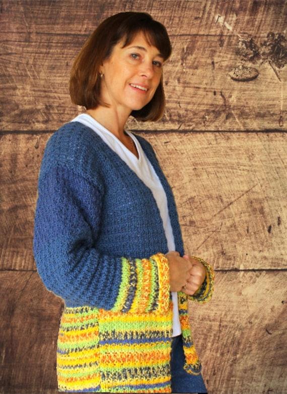 Knitting Pattern For Cardigan Sweater Knit Sweater Pattern Etsy