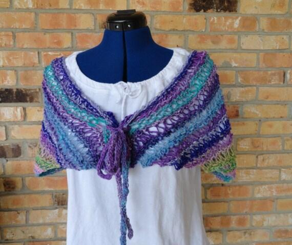Knit Wrap Pattern Easy To Knit Cape Design Knit Scarf Etsy
