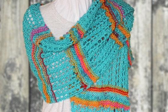 Knitting Pattern For Lace Shawl Prayer Shawl Patterns Garter Etsy