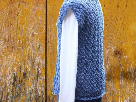 Knit Sweater Pattern Knitted Vest Pattern Knitting Pattern Etsy