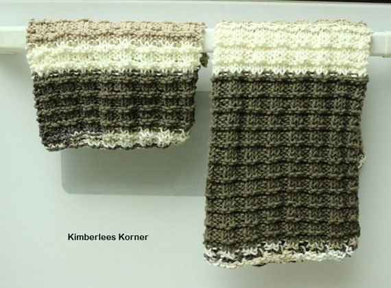 Knitting Pattern Dish Towel Pattern Dishcloth Patterns Easy Etsy