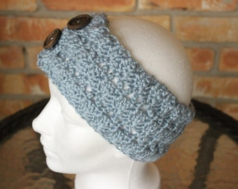 Crocheted Headband Pattern, Wide Crochet Headband Pattern,  Easy Crochet Patterns for Headbands, Headband Pattern with Button