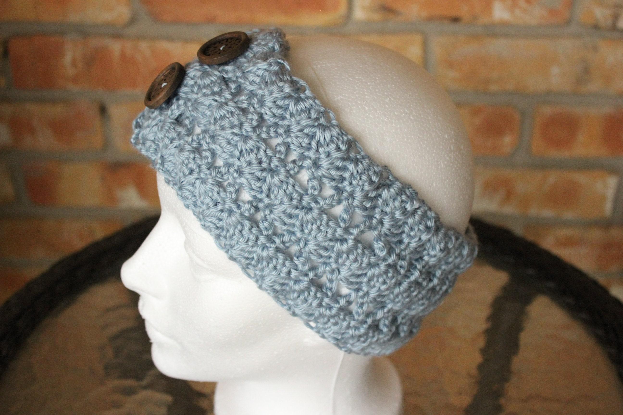 Crocheted Headband Pattern Wide Crochet Headband Pattern Etsy