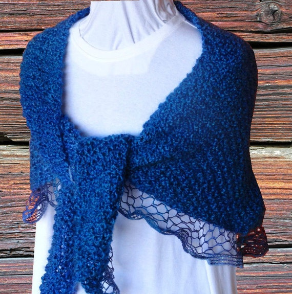 Knit Shawl Pattern Pattern For Sashay Yarn Easy To Knit Etsy