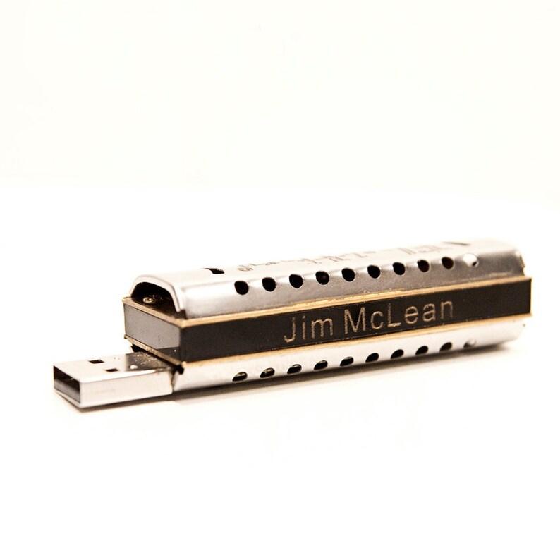 Personalized 8GB FlashHarp USB w Lesson image 0
