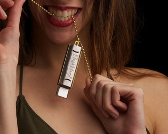 Personalized 8GB Play Harmonica Kit, Necklace USB Free US Shipping