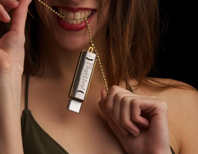 Personalized 8GB Play Harmonica Kit Necklace USB Free US image 0