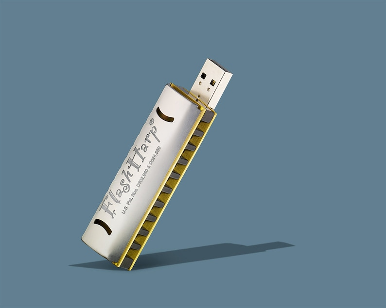 Mini Harmonica and 8GB USB flash drive in one with lessons image 0