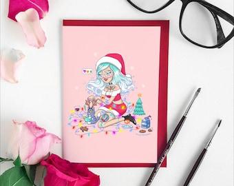 Mrs Claws Christmas Card