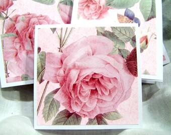 Pink Roses Mini Gift Cards Set of 3 PIF