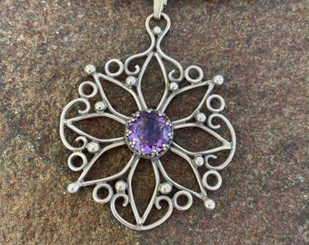 Silver and Amethyst Pendant (The heart of the matter)