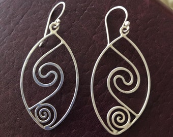 Wire Sterling Silver Earrings (A Peaceful Outcome)