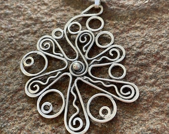 Sterling Silver Pendant (The Happy Doodle)