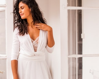 Bohemian tulle wedding dress, bohemian wedding dress, wedding dress with tulle skirt, simple wedding dress, ready to ship wedding dresses