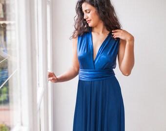 b99f578439 Robe bleu royal brillant, robe longue bleu saphir, robe de bal bleu royal,  robe formelle bleu royal, bleu robe de soirée, robe longue infini bleu