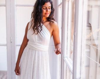 1dba3c3a96 Robe de mariée décolleté dans le dos, robe de mariée en dentelle, robe  bohème mariage, robe Maxi dentelle, robe de mariée champagne, robe