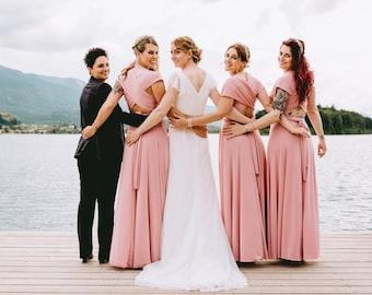 Bridesmaid dress, blush bridesmaid dress, powder pink maxi dress, blush pink bridesmaid dress, long bridesmaid dress, bridesmaids dresses