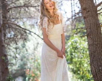 bohemian wedding dress etsy