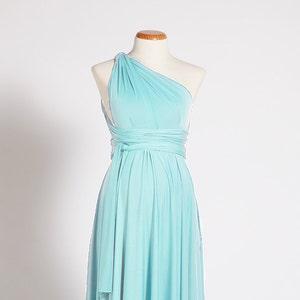 Baby Shower Dresses Light Turquoise Maternity Dress Etsy