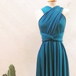 Teal bridesmaid dress, turquoise short party dress, short teal dress, turquoise bridesmaids, teal bridesmaid dresses, infinity