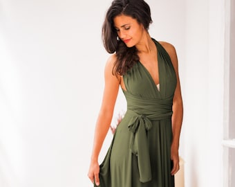 Olive green bridesmaid dress, green dress, bridesmaids, olive green dress, long green dress, green bridesmaid dress, olive green bridesmaids