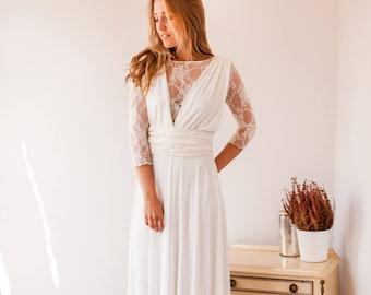 Long sleeve lace wedding dress long sleeve wedding dress ready made wedding dress with sleeves lace gown high neck wedding dress weddings