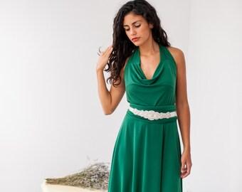 ceb8ce14433 Olive bridesmaid dress Olive green dress Rib bridesmaid