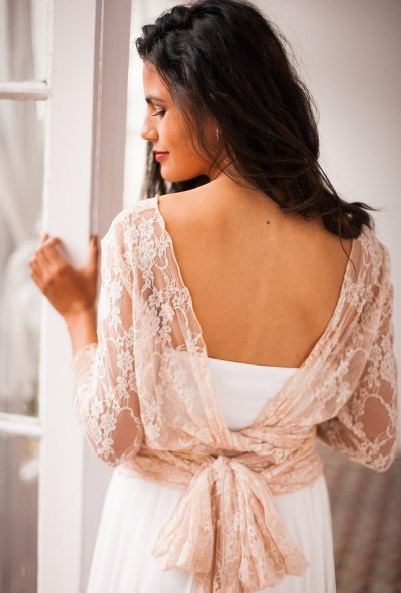 Sleeveless bridal top tube top for wedding dress bridal