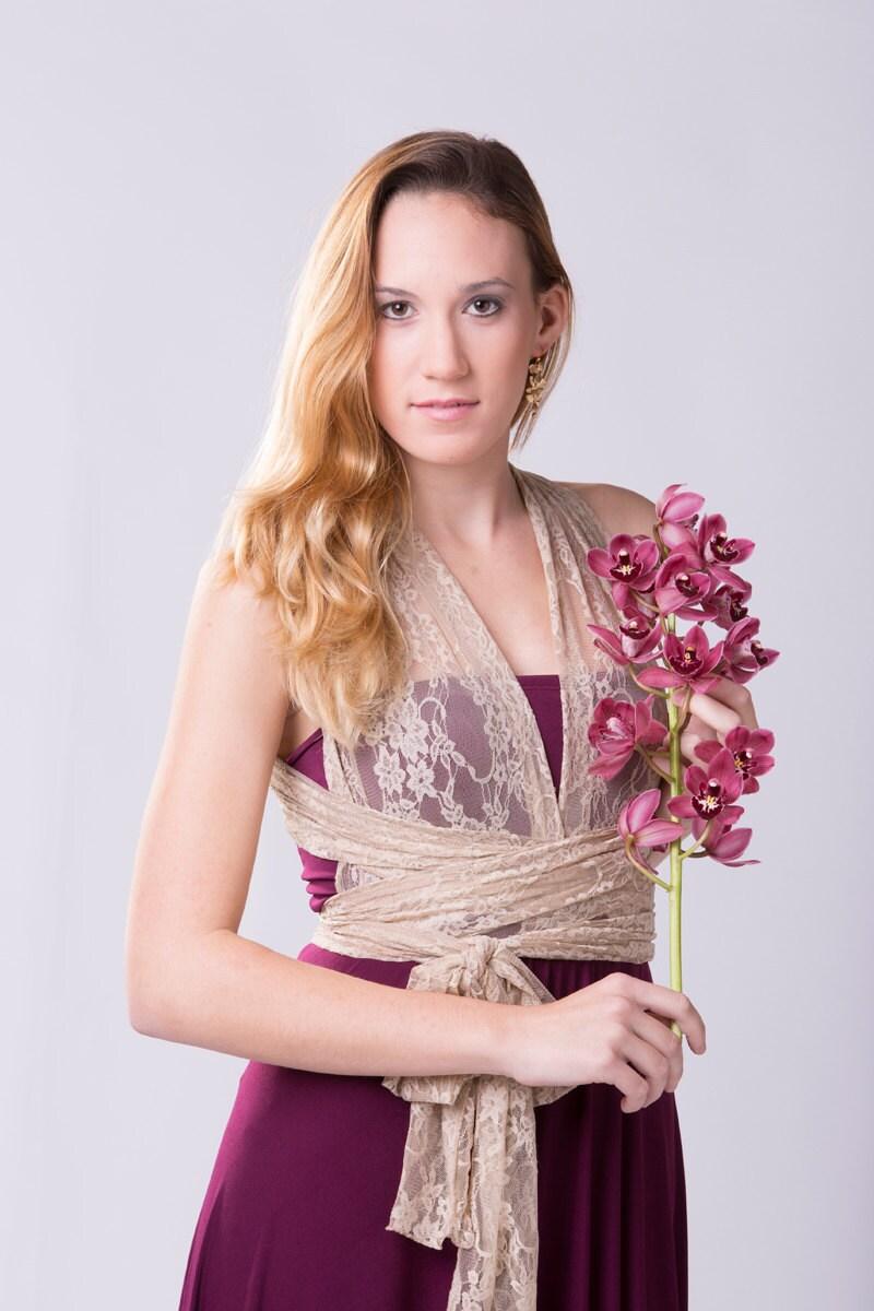 Vestido Vintage Encaje vestido largo evento romántico | Etsy