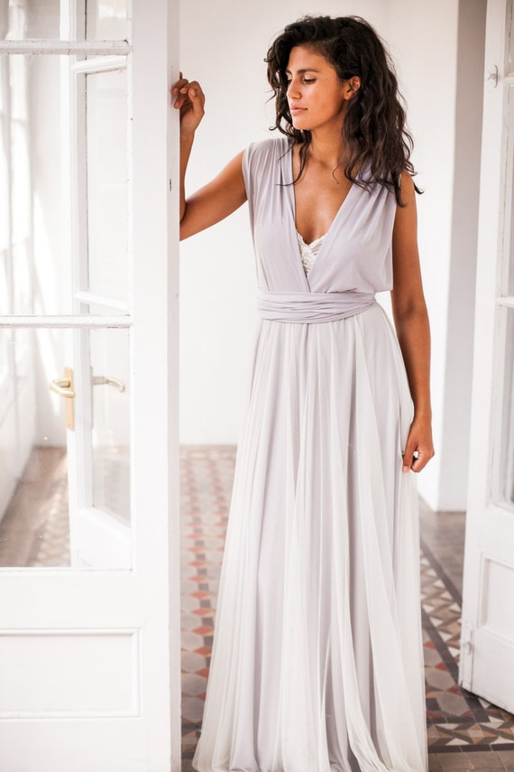 Grey wedding dress wedding dresses light grey wedding dress | Etsy