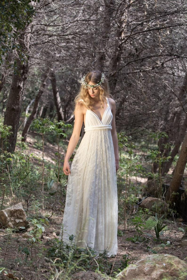 Detachable lace skirt for wedding dress detachable long skirt image 0