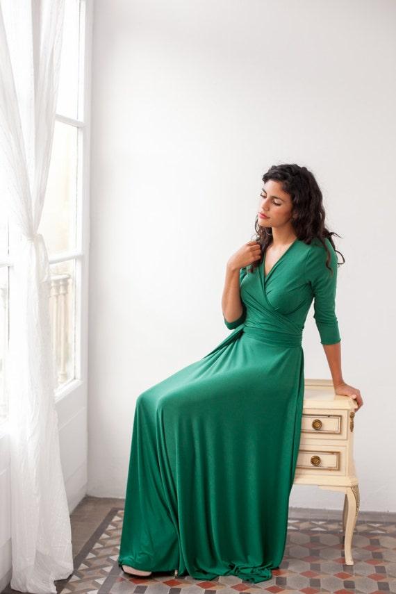 Imagenes de vestidos verdes largos