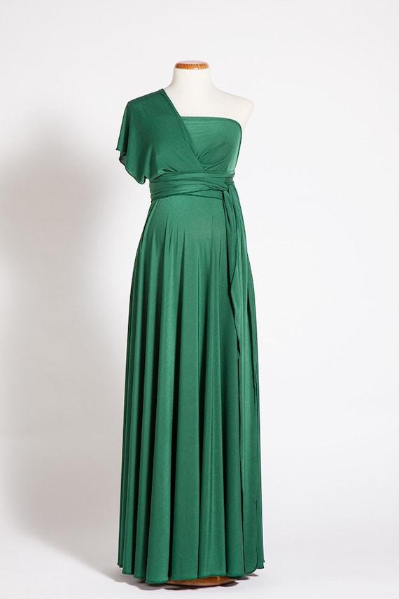 Umstandskleid grün Kleid Kleid Unendlichkeit Flasche Grüne
