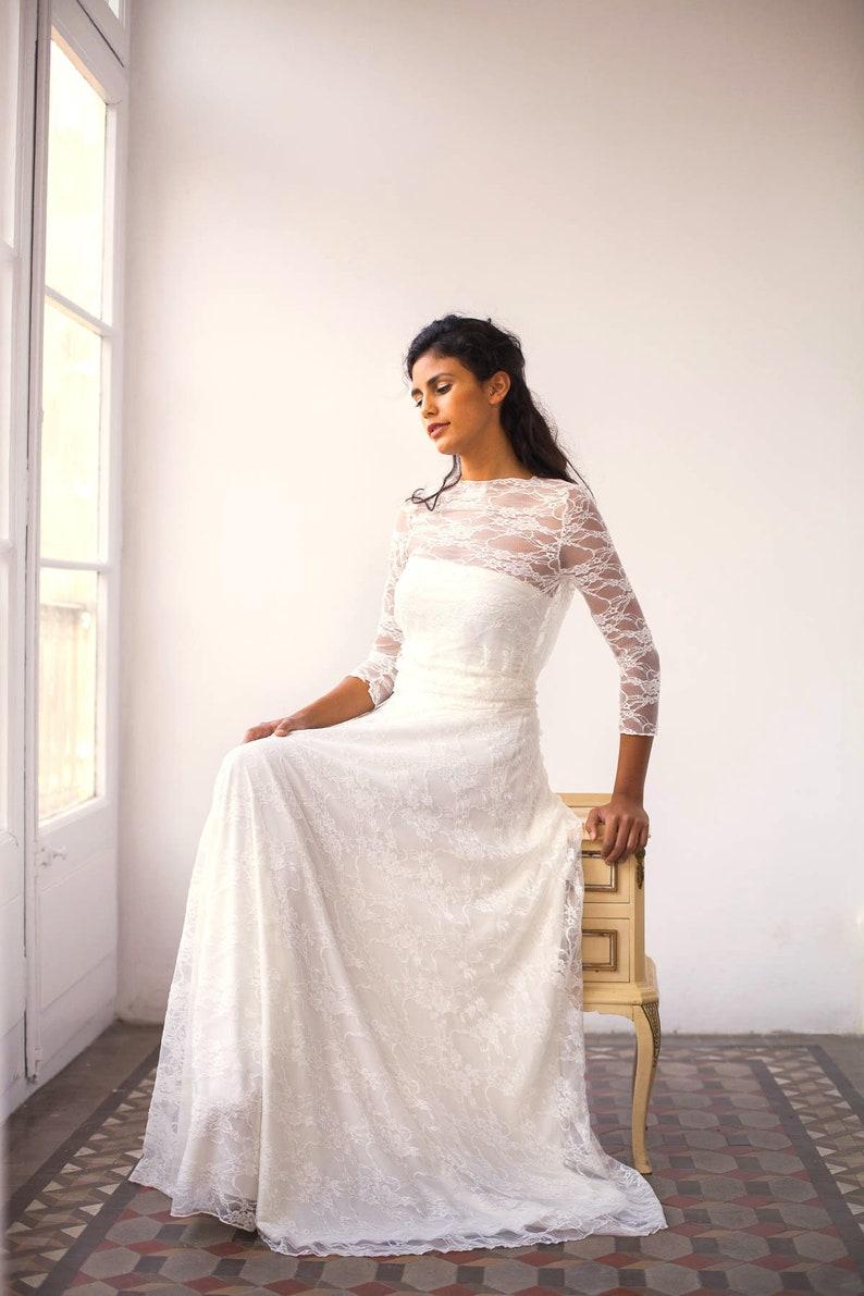 476e662423339 Vintage wedding dress wedding dress lace wedding dress