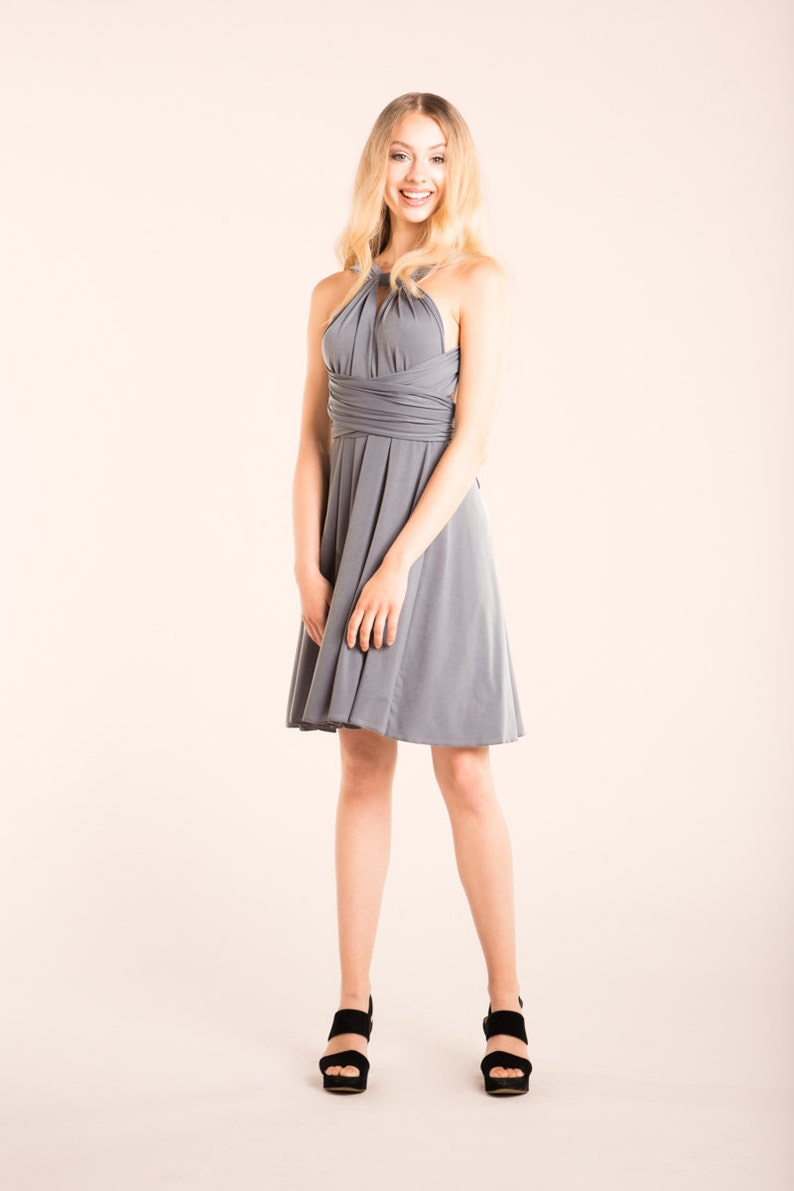 ccec7c736af Gray bridesmaid dress short neutral grey dress light gray