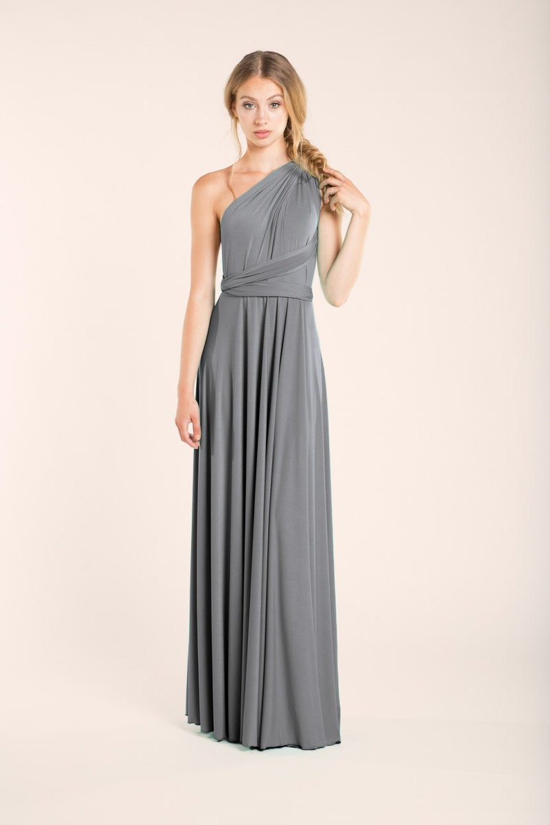 88533eb3d16 Silver grey infinity dress neutral grey dress long grey