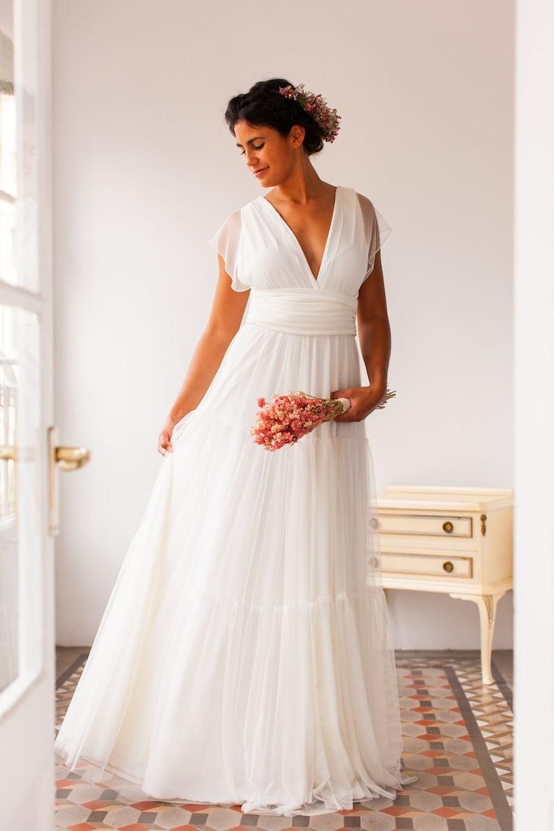 Robe blanche mariée Mimetik