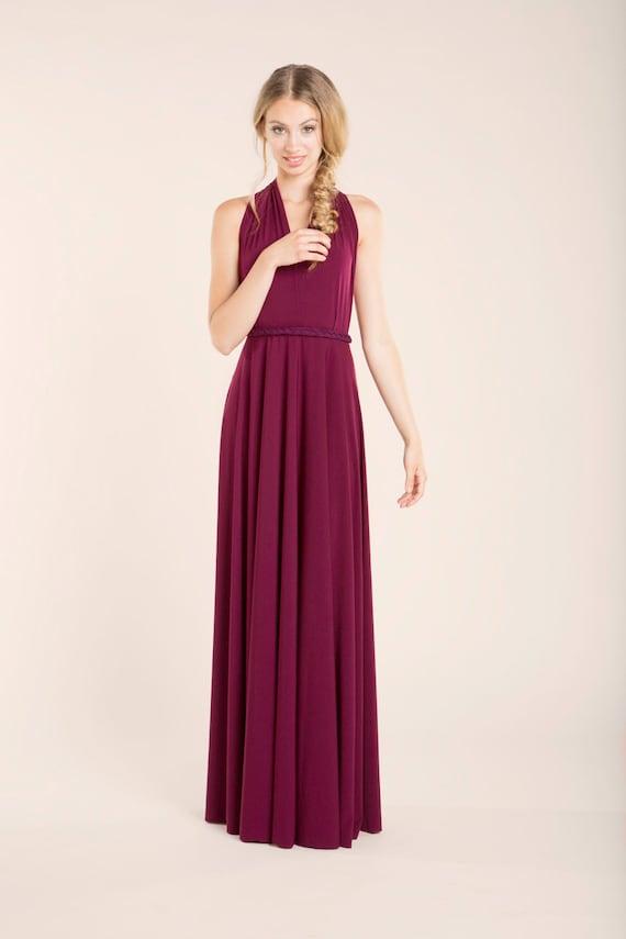 Vestidos de graduacion largos color vino