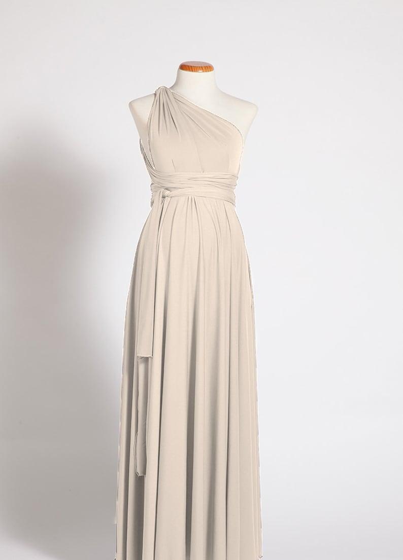 3ea9028e4b5 Beige maternity dress long maternity dress champagne